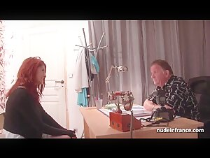 Pretty bigtitted redhead tiny asshole fucked for her casting