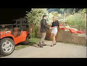 German Lady Tempts A Gentleman For A Outdoor Fuck