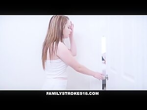 FamilyStrokes- Step-Daughter Rides Dad While Mom Sleeps