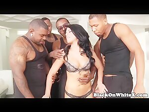 Adriana Chechik's First Interracial Gangbang