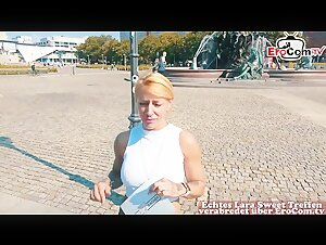 Deutsche Fitness Teen abgeschleppt - german blonde amateur tattoo teen public pick up POV casting
