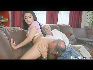 74 Year Old Eats some 18 Year Old Pussy