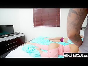 Big ass slut Valentina Jewels fucked by stepsisters BF