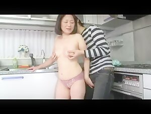Super horny japanese boy seduces and fucks mature mommy