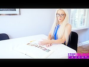 Cute Nerdy StepSis Uses StepBros Cock For Lessons! S6:E9