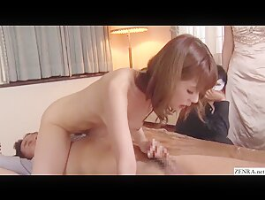 Cheating Japanese wife Yui Hatano has sex with audience