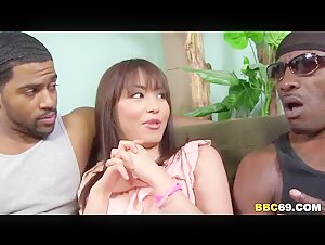 Asian Marica Hase DP'd by Black Dicks