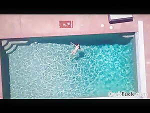 Marica Hase takes a BBC by the pool