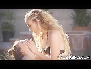 Alyssa Cole and Alana Summers have fun outdoors