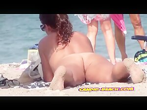 Beautiful Latina Brunette Naked At The Beach spy cam voyeur