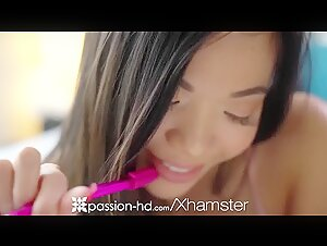 PASSION-HD Asian Teen Spreads Pussy Wide For Big Dick