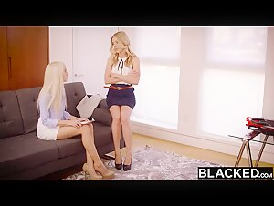 BBC Threesome For Hot Blonde Intern Naomi
