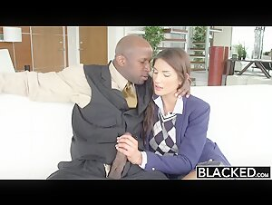 Sexy August Ames Pleased Best By Black Cocks