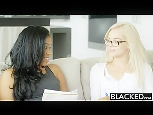 Elsa Jean Can Barely Fit His Black Dick Inside Her